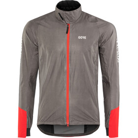 GORE WEAR C5 Gore-Tex Shakedry 1985 Vis Jacket Herrer, lava grey/red